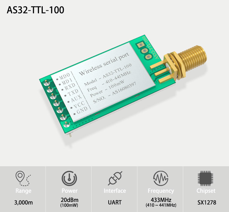 Lora Sx1278 Iot Rf Tx Rx 433mhz Modbus And Module Long Range Wireless Transmitter Receiver