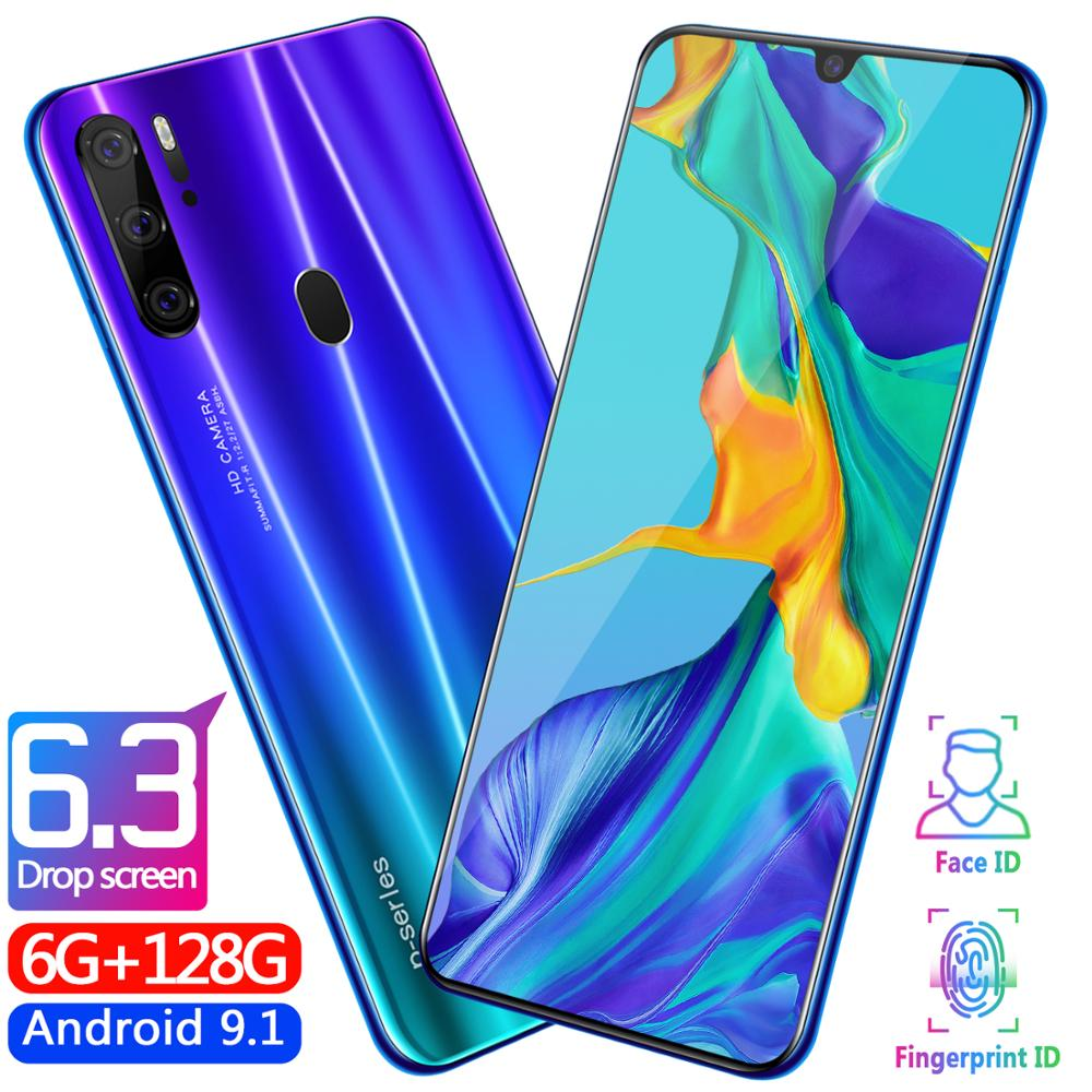 Global 2019 Versi Unlocked P35 Pro 6.3 Inch 6GB + 128G Octa Core Ponsel Android OS9.1 ponsel