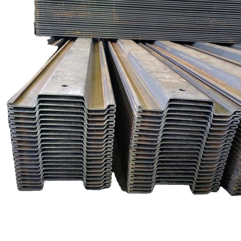 Soğuk şekillendirilmiş U çelik levha kazık sıcak haddelenmiş ve galvanizli çelik levha kazık satılık