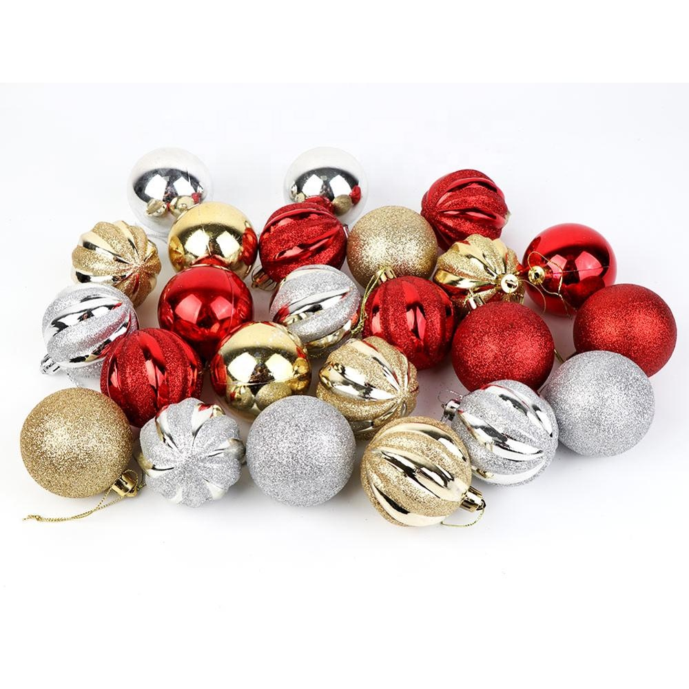 Новейшее Рождественское украшение, 6 см, моделирование, твердые полистироловые пластиковые шарики, круглые шарики для украшения рождественской елки