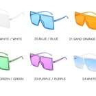 2020 New Colors Big Square Oversized Glasses Fashion Sunglasses