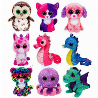 2018 Hot New Ty Beanie Boos Toy Doll Baby Girl Birthday Gift 15cm Big Eyes Stuffed Animal Doll Unicorn Owl Leopard Elephant