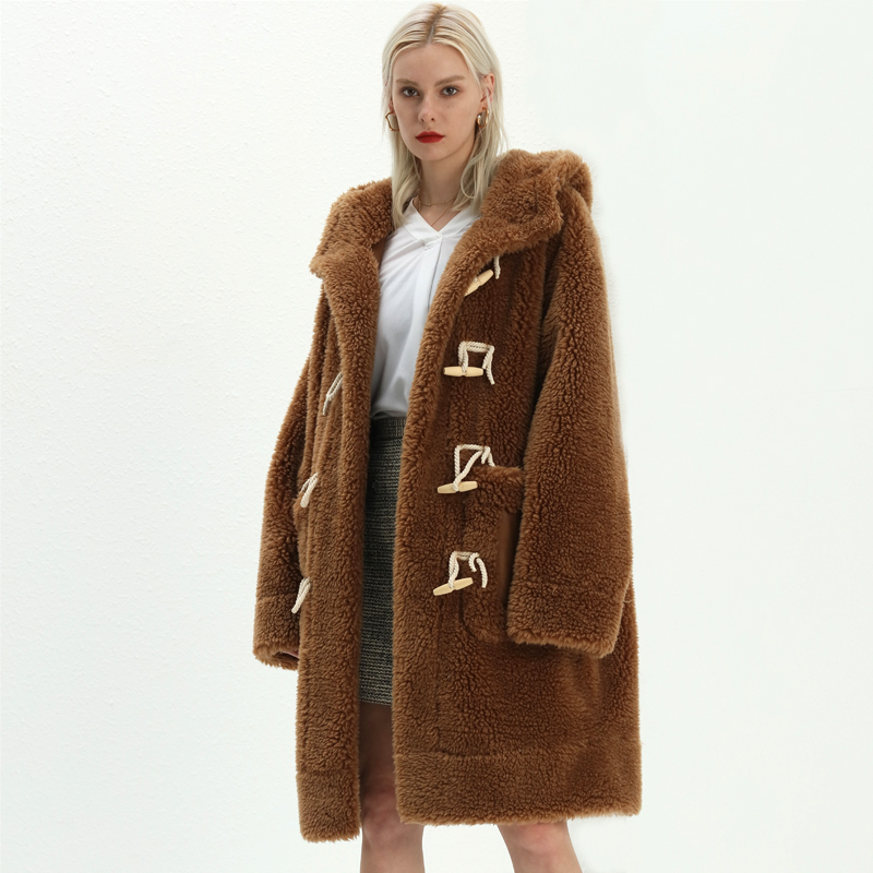 Wholesale faux fur coat winter custom logo and color popular coats