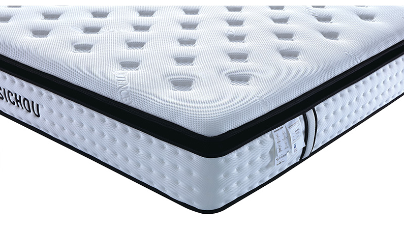 Sichou Custom Factory Supply King Queen Full Size Foam Pocket Spring Hotel Bed Mattresses in a Box