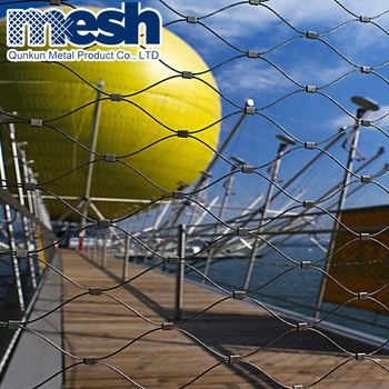 Stainless steel wire rope mesh netting for wire rope protection fence