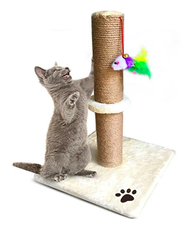 3Takins Factory wholesale New Carpet Fish Ball Bell Sisal Cat Scratching Post Tree