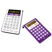 Tête inclinable L forme 2 en <span class=keywords><strong>1</strong></span> 8 chiffres transparent clavier de bureau calendrier <span class=keywords><strong>calculatrice</strong></span>