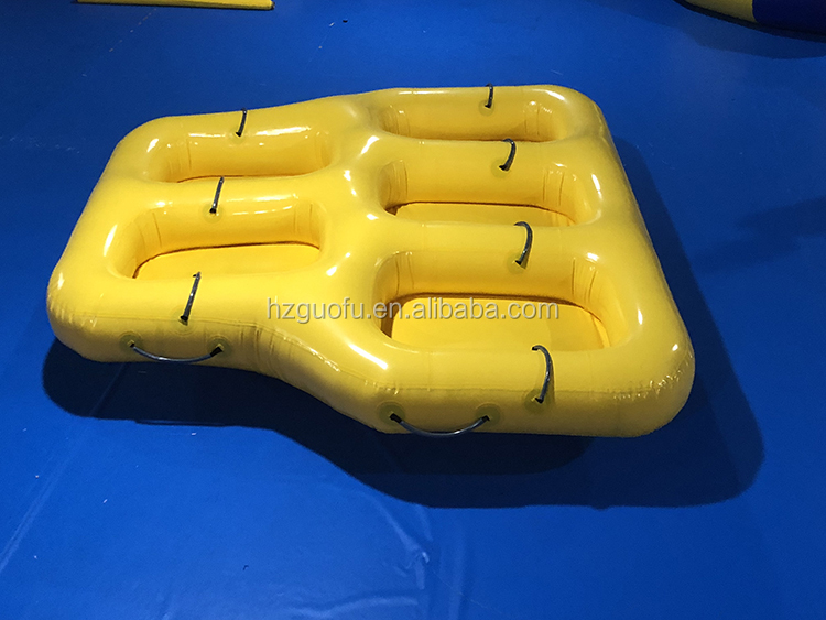 Durable 3 4 5 6 7 8 Person Tarpaulin PVC Inflatable Towable Donut Water Ski Boat Tube