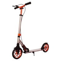 Fashion 200mm quick foldable hand-brake 2 wheels kick scooter adult grey