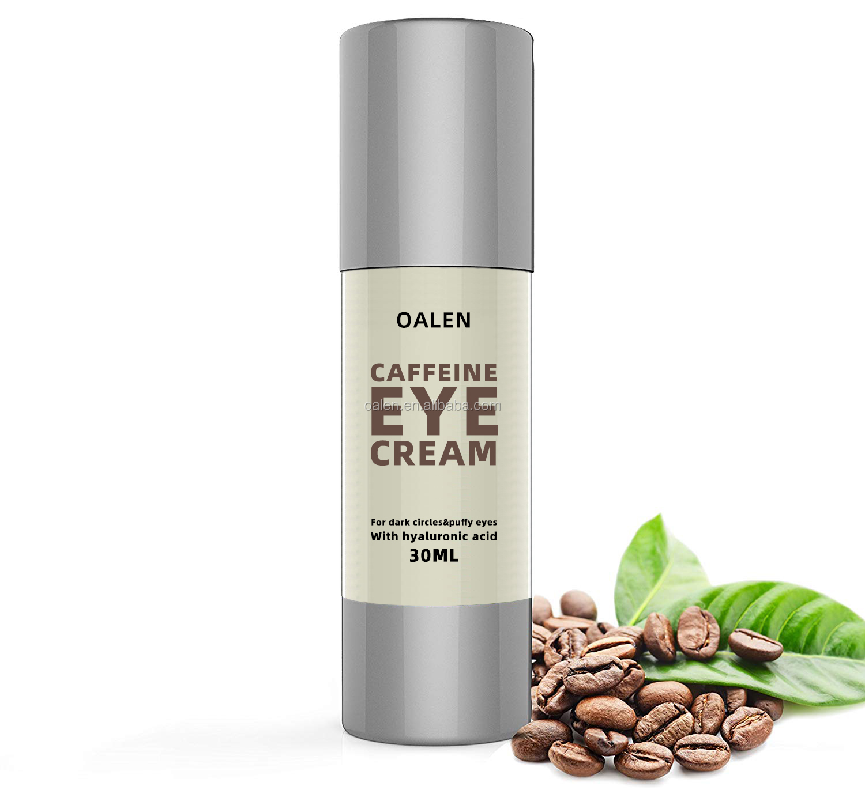 100% PURE Coffee Bean Caffeine Eye Cream Treatment for Wrinkles Anti-Aging Dark Circles Under Eye Cream