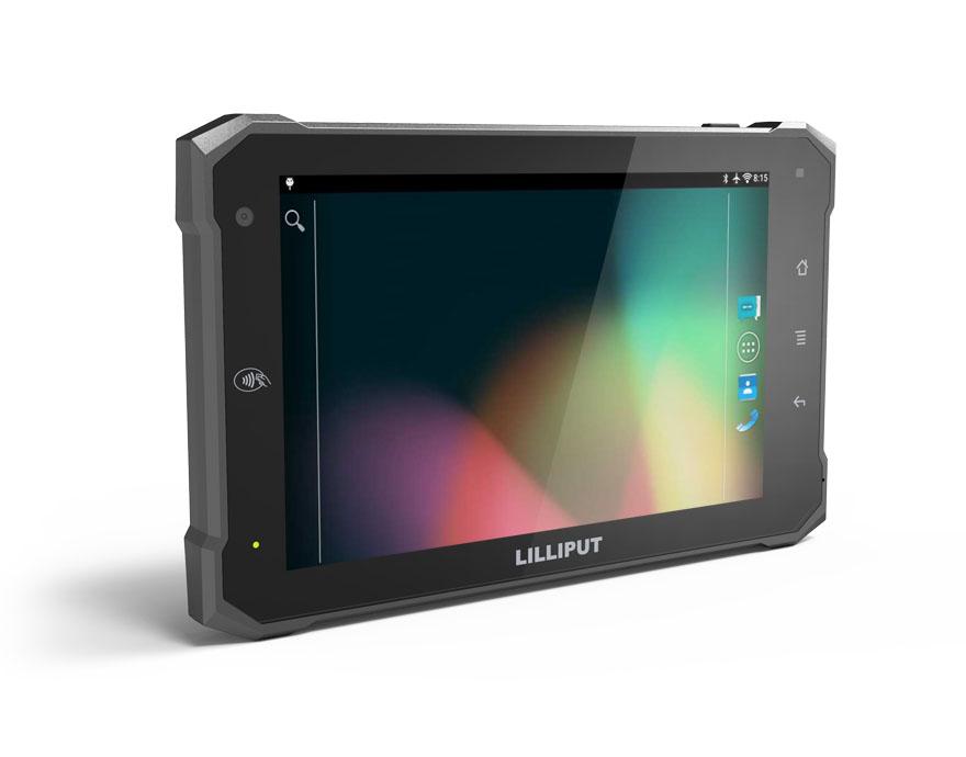 7 इंच गोली पीसी निविड़ अंधकार टैबलेट पीसी एनएफसी वाईफ़ाई ब्लूटूथ 3 जी 4G के साथ कैमरा RS232 एंड्रॉयड औद्योगिक पीसी