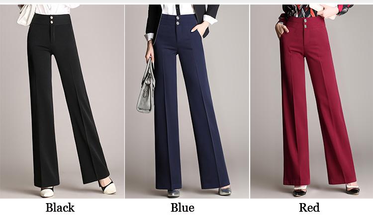 2020 Las Nuevas Mujeres De Cintura Alta Pantalones De Pierna Suelta Pantalones Largos Elegante Dama De Oficina Vintage Traje De Los Pantalones Casuales Pantalones Pantalon Femme Buy Alta Cintura Pierna Ancha