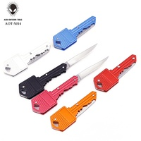 Edc Tools Key Shaped Pocket Knife, Custom Mini Pocket Knife Keychain