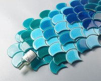fish scale mosaic tile ceramic