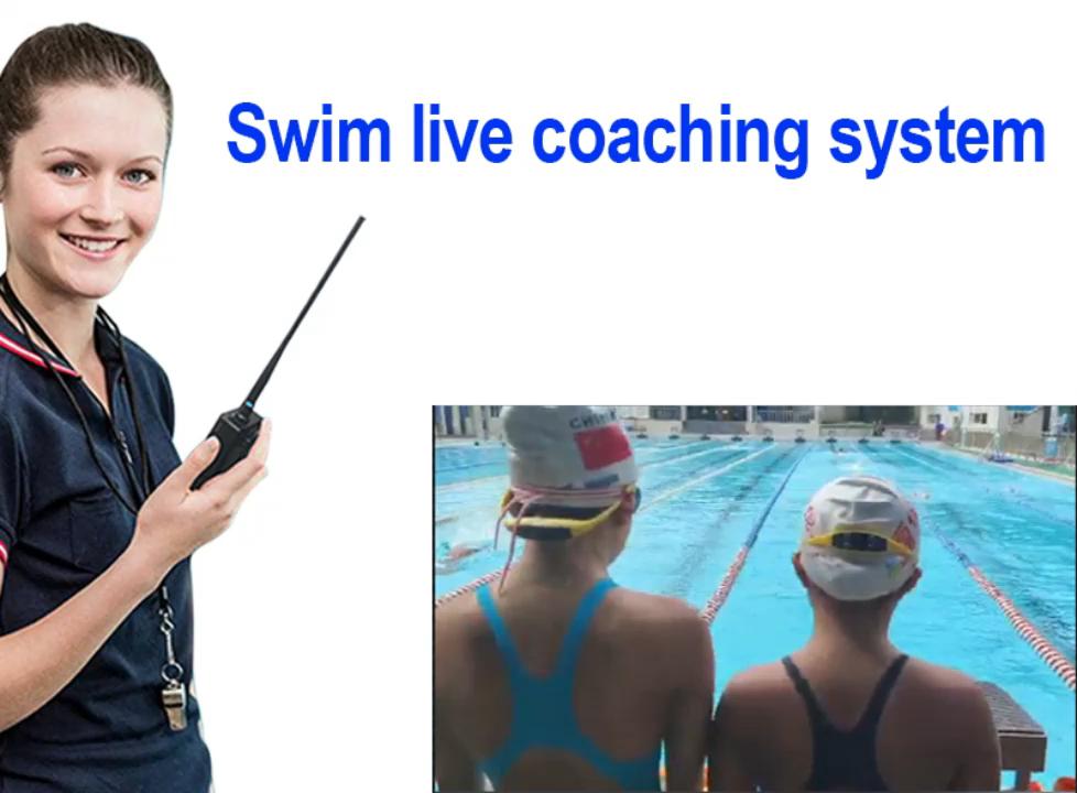 수영 라이브 훈련 시스템 무전기 뼈 전도 헤드폰 수영 교육 송신기 수신기 무선