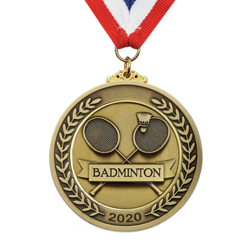 High Quality Custom Metal Sport Badminton Medal