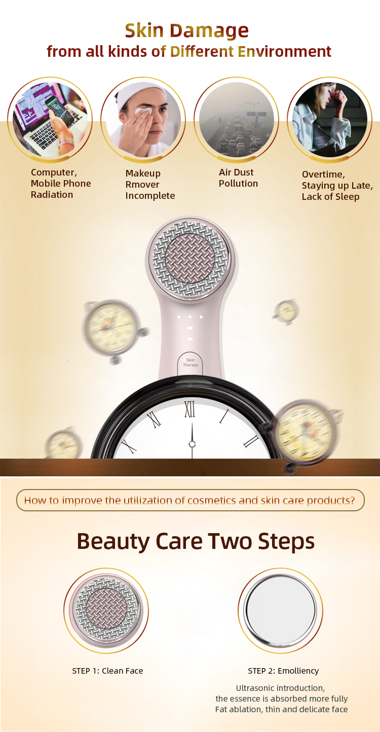 Product 2020 Beauty Care Imported Essence Waterproof 2 in 1 Face Cleaning Brush Devices