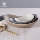 good selling ceramic porcelain oval plate in matt colors