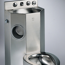 Modern Stainless Steel <span class=keywords><strong>Penjara</strong></span> <span class=keywords><strong>Toilet</strong></span> Wastafel Sikat Finish