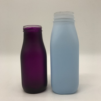 100ml-1000ml Empty Container Milk Juice Glass Pudding Bottle With Plastic Cap Wholesale