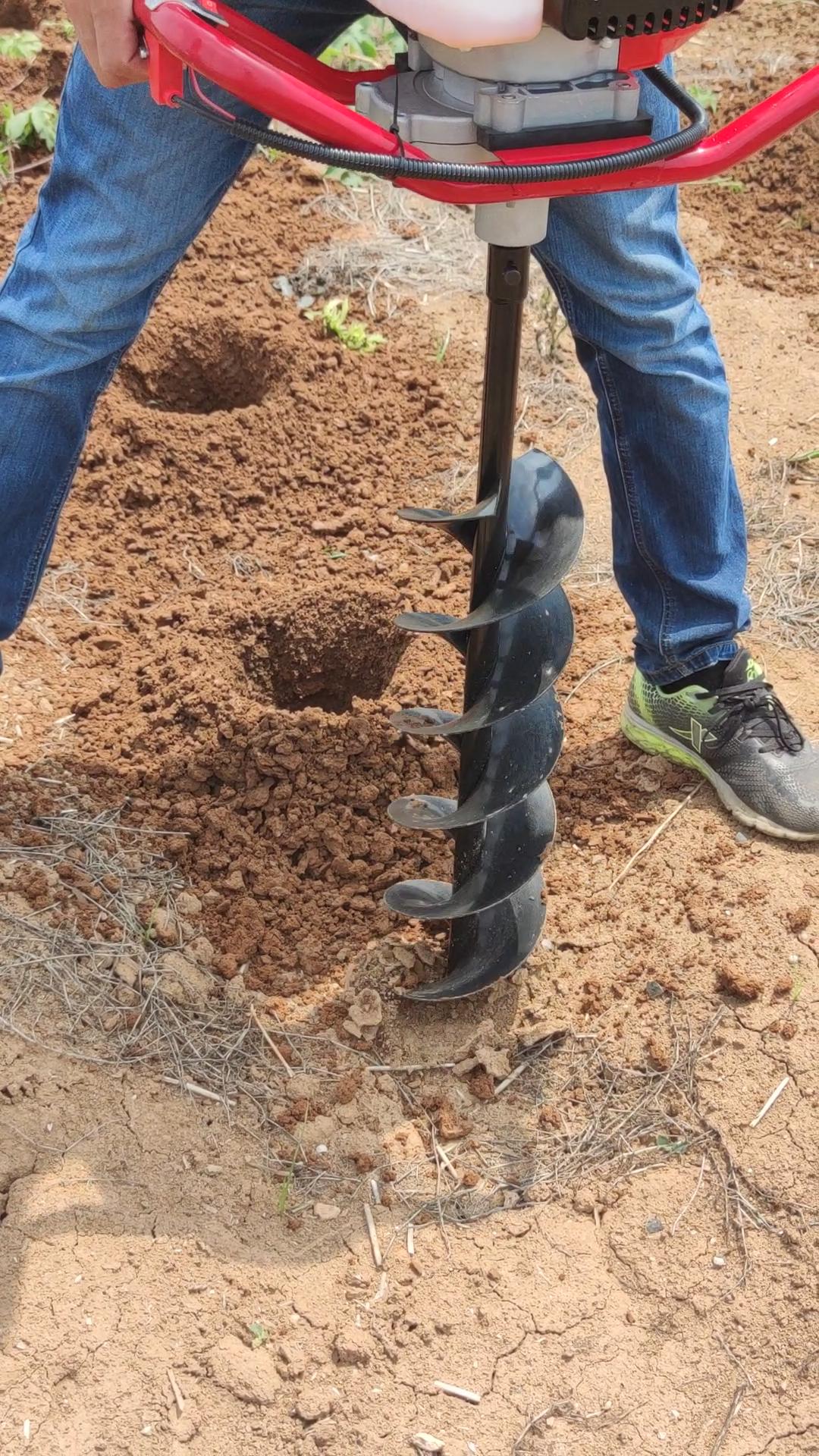 Escavadoras terra broca espiral tariere maschin perfuração puncher perfuração do solo com a planta