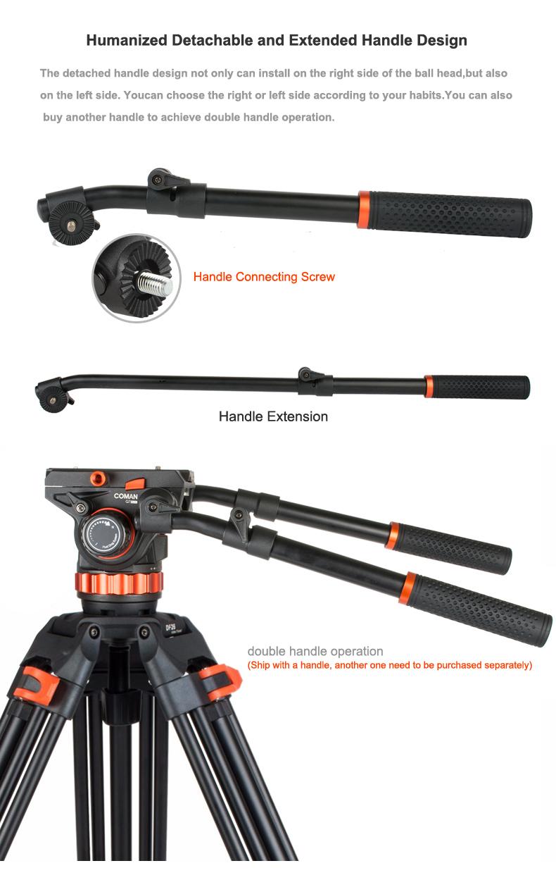 Coman  DF26Q7PLUS professional product video tripod for nikon dslr video camera 1710mm max load 12kg