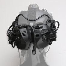 FCS-RAC звукосниматель шумоподавление Быстрый Шлем тактическая гарнитура-Тан (RAC гарнитура Голосовая версия + стандарт PTT)(Китай)