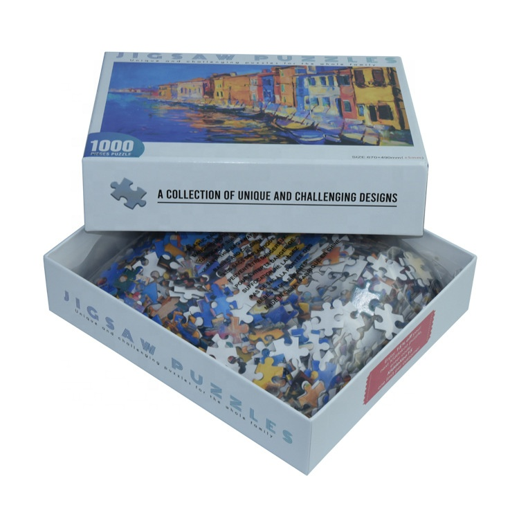 Factory sublimation cardboard printed brain teaser Custom Jigsaw puzzle 1000 Pieces for adult