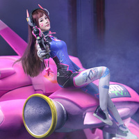 Wholesale Women Sexy Game Overwatch Mecha Pilot D.Va Cosplay Costume Bodysuits for Adults