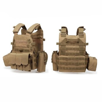 Tactical Plate Carrier Vest Military Tactical Vest Molle with 3 Magazine Medic Pouch