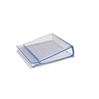 Clear PVC Edge Gripper Board Display Clip for Holder Material