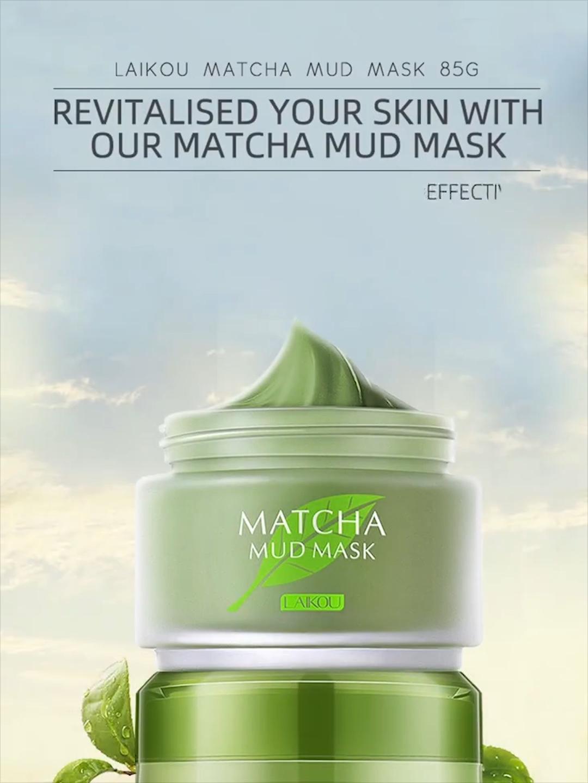 Laikou — masque à boue compacte au thé vert, soin de la peau, 85g, vente en gros, livraison gratuite