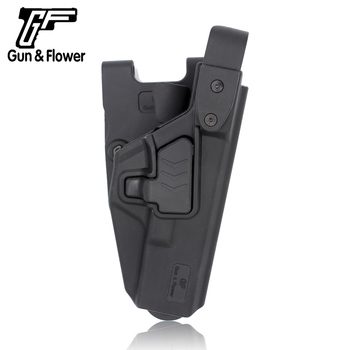 Gun&Flower OWB Polymer Plastic Pistol/Firearm/Gun Injection Holster For Thumb Release Glock 17/19/22/27/23/26/47
