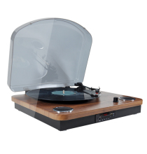 Portátil Bluetooth TF USB display LED Modern Vintage Vinyl Record Player Turntable Com Rádio