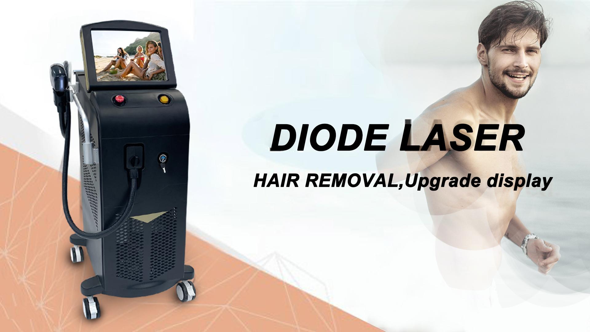 Laser profissional de depilação a laser de 3 ondas laser 755 808 1064 preço de máquinas de depilação a laser