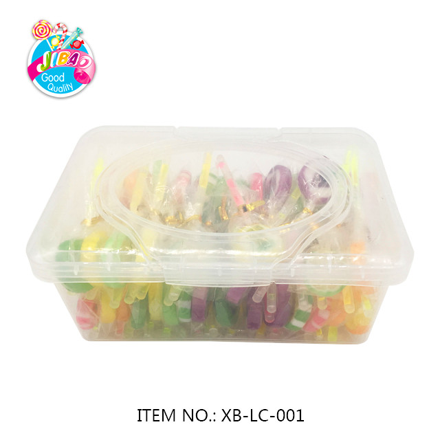 Low MOQ New Product  Fluorescent Glow Stick Light stick  Lollipop Fruity Flavor Sandwich Cookie  Lollipop Hard Candy