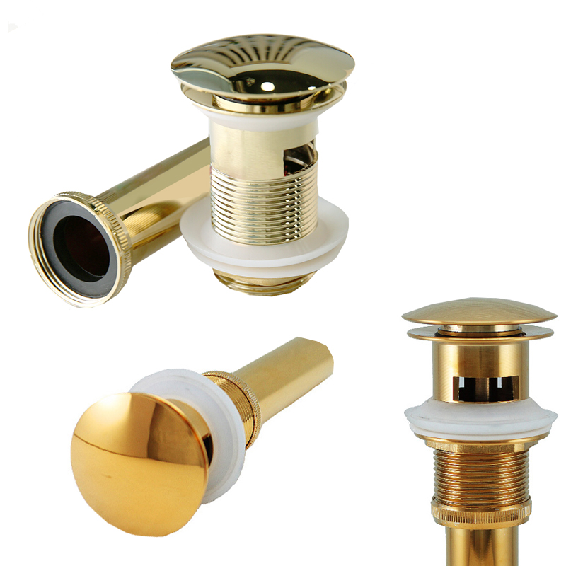 hotel shampoo basin drainer kitchen sink waste gold copper strainer china porcelain new drainer lid bathroom sink fitting set