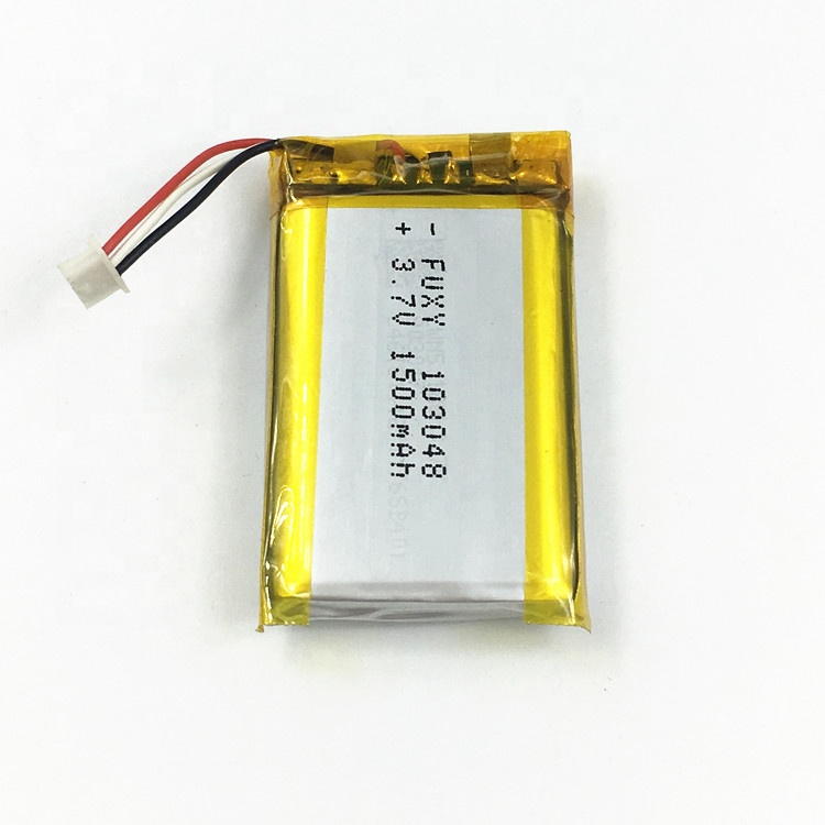 Polymer Lithium Battery 103048 3.7V 1500mAh with Protective Circuit , portable devices battery,rechargeable li-ion battery