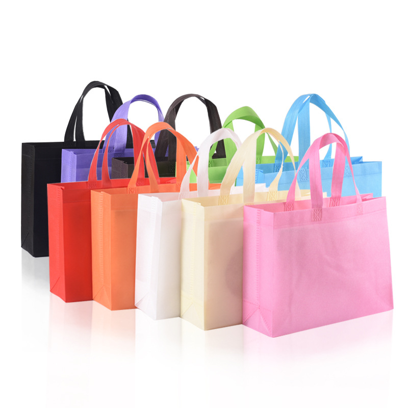 Eco friendly die cut style non woven carry shopping bag