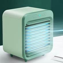 USB портативный мини Кондиционер охлаждающий для авто спальни кулер вентилятор три способа использования с 200 мл резервуар для воды(Китай)