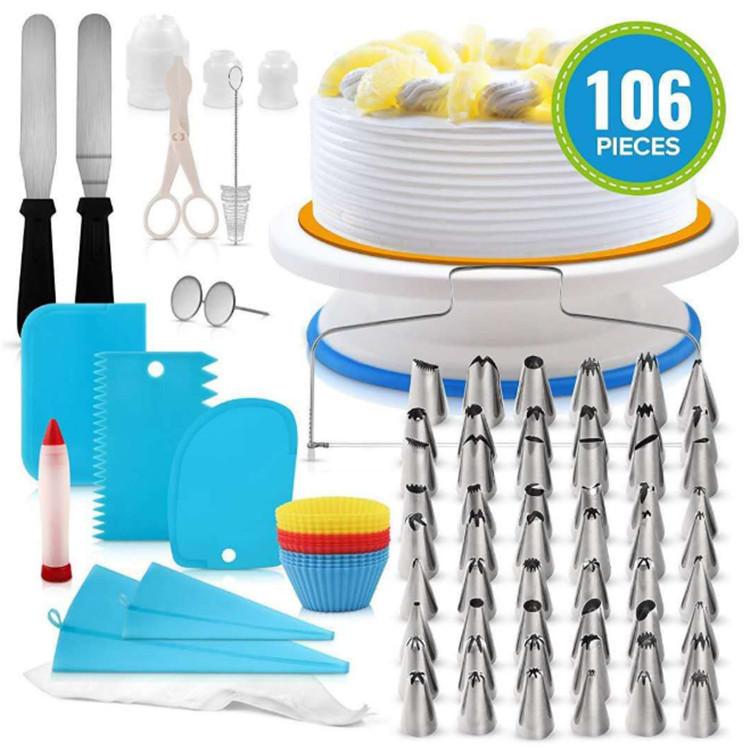 Giradischi kit decorazione di una torta del basamento icing piping punte di decorazione Della Torta attrezzi Della Torta set