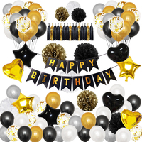 Birthday Party Accessories Balloon Banner Pop Decorative Ornament Gift Set