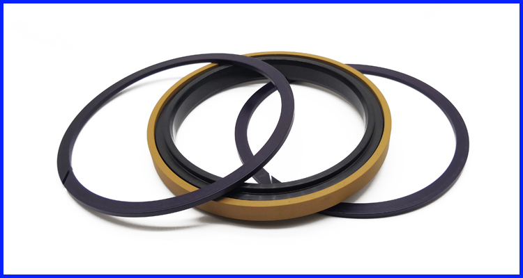 Golden Color SPGW piston seals for excavator hydraulic cylinders
