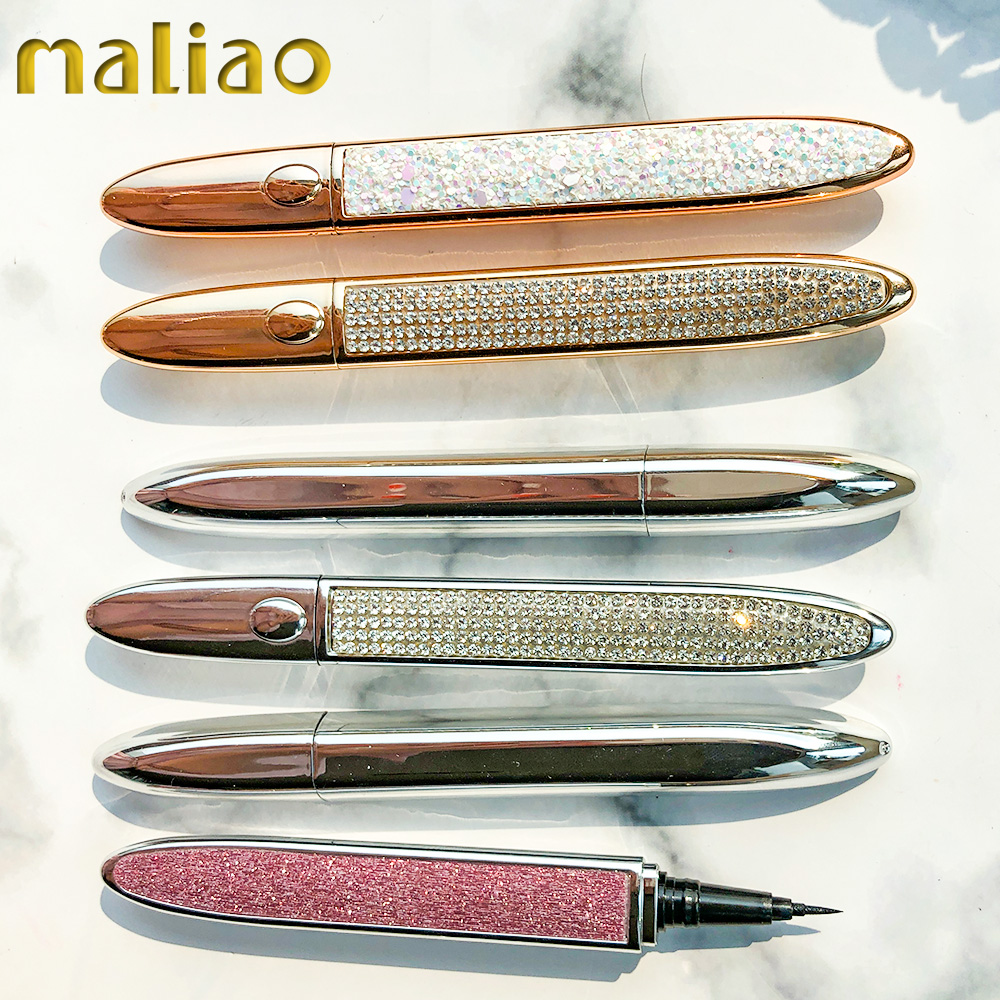 Maliao Cosmetic Makeup Unique Design Gold Eyeliner White Water Proof Liquid Eye Liner