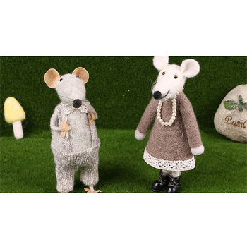 needle felted animal stuffed animal mouse toy wool felt mouse