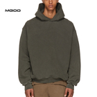 Hoody Top MGOO Non Drawstring Heavyweight Hoody Top Acid Washed French Terry Super Oversized Blank Hoodies