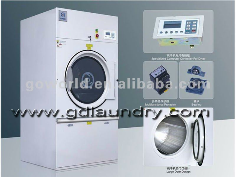 steam heating commercial laundry dryer for hotel,hospital