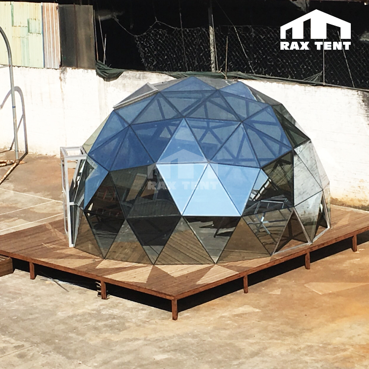 Glass Geodesic dome kit outdoor luxury camping glamping dome tent for sale