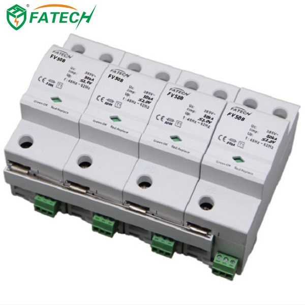 FATECH new 4 pole type <strong>1</strong> spd Surge Protection Device with spark gap tube