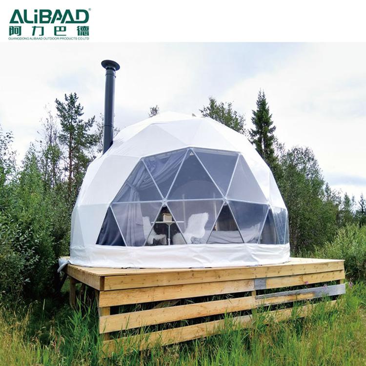 גדול שקוף חיצוני ברור פלסטיק כיפת אוהלי בית מבנים tiglo אוהל